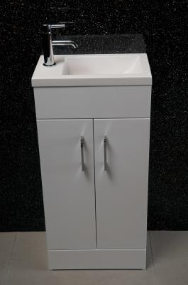 Alliance Lomond 400 Floor Standing Basin And Furniture Unit White