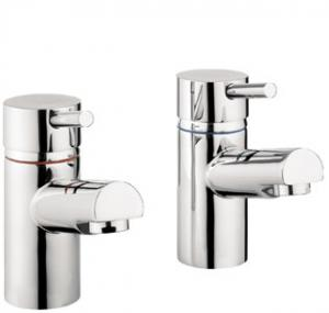 Adora Globe Bath Pillar Taps Pair