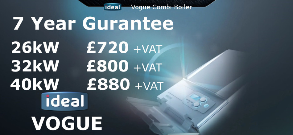 Ideal Vogue combination boilers prices