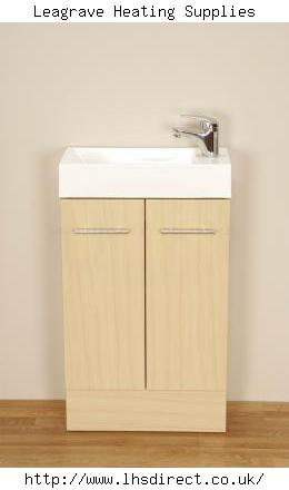 ALLIANCE ELGIN 500X250 CLOAK UNIT AND BASIN- MAPLE