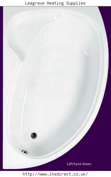 Eastbrook Swan Offset Corner Bath Lh 1700mmx1000mm