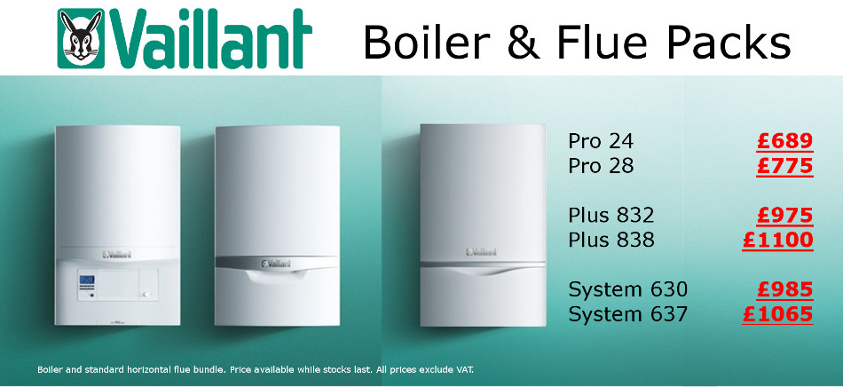 Vaillant boiler and flue offer